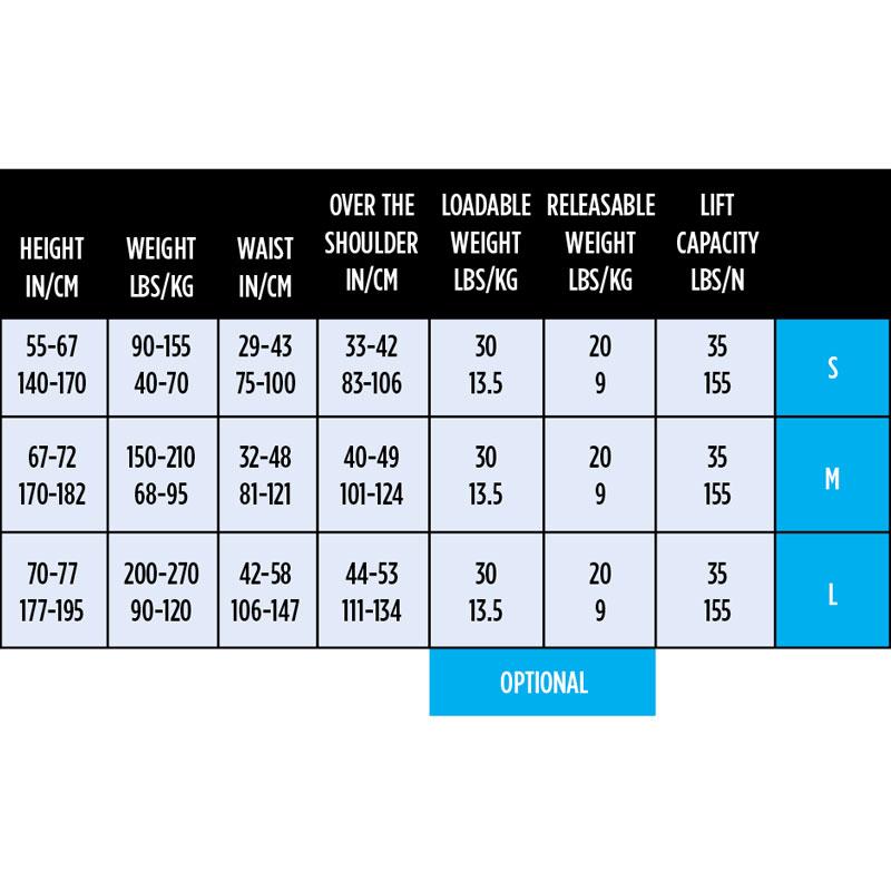 Aqualung Rogue BCD size chart